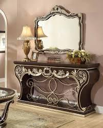 homey design hd 213 hamilton console table u0026 mirror usa