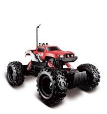 monster jam remote control trucks maisto tech radio control rock crawler vehicle red toys