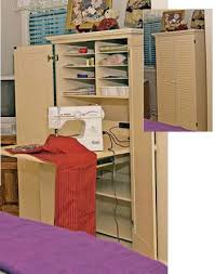 sewing armoire hobby craft rooms creative space ideas design basics