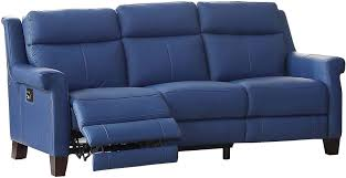 Blue Reclining Sofa by Dolce Blue Power Reclining Sofa With Power Headrest From Amax