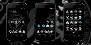 android theme psycho pass android theme for clauncher androidlooks