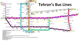 Pdf Metro Map by Tehran Brt Bus Lines Map Pdf