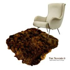 Faux Fur Area Rugs by Plush Faux Fur Area Rug Luxury Fur Thick Shaggy Icelandic