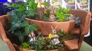 Outdoor Fairy Garden Ideas by How To Build A Fairy Garden Outdoor Diy Youtube