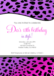 Invitation Cards Printable Birthday Invites Best 13th Birthday Party Invitations Cards