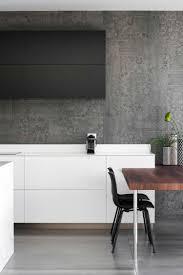 Esszimmer Modern Weiss Marmor Küche Mit Beton Wand Mit Effektvollem Muster