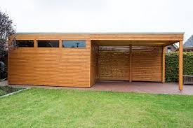gartenhaus design flachdach design gartenhaus mit vordach aus lärchenholz mit flachdach