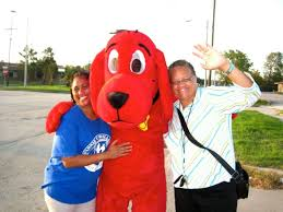 Clifford Big Red Dog Halloween Costume Clifford Big Red Dog Visits Fcwcs