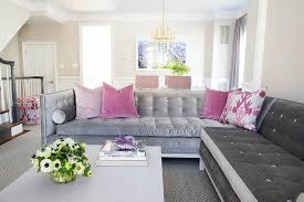 Pink Sectional Sofa Gray Sectional Sofa Contemporary Living Room K Mathiesen