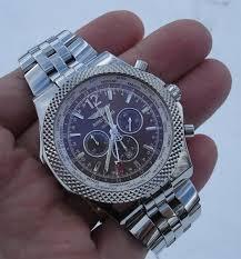 breitling bentley on wrist breitling bentley gmt a4736212 bronze dial topnotch watch