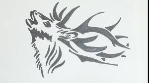 how to draw deer head tribal tattoo youtube