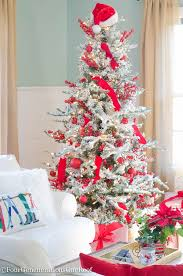 White Christmas Tree Decorations 2015 our red white christmas family room 2015 four generations one roof