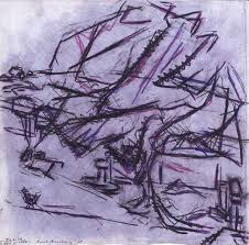 tree in tretire frank auerbach wikiart org
