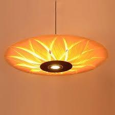 Wood Veneer Pendant Light Southeast Asian Wood Veneer Led Pendant Ls Restaurant Living