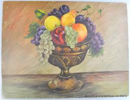 fruit basket oob fruit basket centerpiece still life grapes orange pear apple
