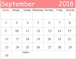 september calendar designs 2018 free calendar templates