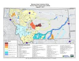 Montana Land Ownership Maps by Surface Water Supply Index Swsi
