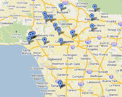 studio city map take a tour of tv landmarks with view