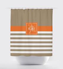 Shower Curtain Custom Custom Striped Tennis Themed Shower Curtain W Name U2013 Shop Wunderkinds