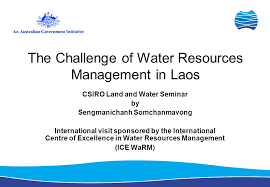 Challenge Of Water The Challenge Of Water Resources Management In Laos Csiro Land And
