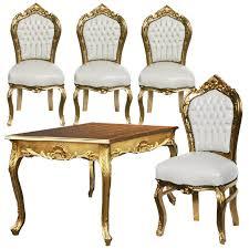 Esszimmer Weiss G Stig Stuhl Und Tisch Set Angebot Barockmöbel Esszimmer Tisch Weiß Gold