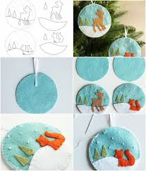 unique handmade christmas ornaments felt christmas ornaments diy christmas ornaments and