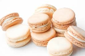 classic french macaron with vanilla buttercream filling ahead of