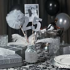 Oriental Trading Home Decor by 25th Anniversary Party Mason Jar Centerpiece Idea