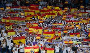 Spain Flags Catalan Referendum Real Madrid Show Spain Support After Violence