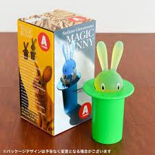amazon com a di alessi magic bunny toothpick holder green