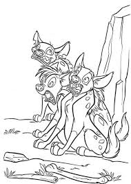 hyena coloring pages getcoloringpages