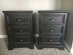 Black Wood Nightstand Two Tone Nightstands Makeover Bless Er House
