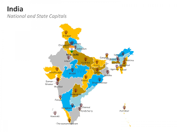 India Maps by Powerpoint Map Of India India States And Districts Are Easy To Edit