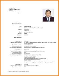 Translate Resume 9 Cv Models In English Fillin Resume