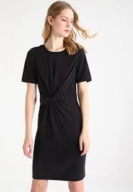 designer brands jersey dress black cheap womens clothes