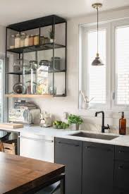 Open Shelf Kitchen by Open Shelving Which Is Coated With The Same Black Finish As The