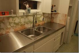 stainless steel countertop with sink remodelaholic affordable stainless steel countertops diy