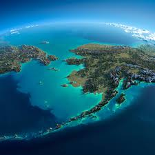 Map Of Russia And Alaska by Exaggerated Relief Map Of Chukotka Alaska And The Bering Strait