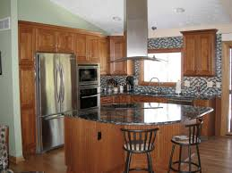 kitchen ideas with island best small kitchen makeovers ideas with island bar and brown