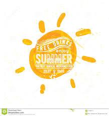 watercolor sun rays flat icon closeup silhouette stock vector