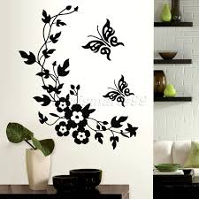 online get cheap baby girl wallpaper aliexpress com alibaba group butterflies flowers animals stack wall stickers decal kids adhesive vinyl wallpaper mural baby girl boy room