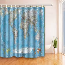 Shower Curtain World Map Amazon Com Saturday Knight The World Peva Shower Curtain Home And