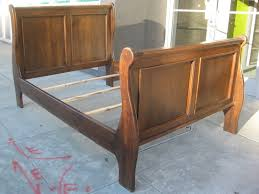 Queen Size Sleigh Bed Frame Bedroom Cherry Sleigh Bed Queen Bed Frame And Headboard Full