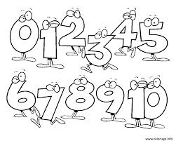Coloriage chiffres de 0 a 10  JeColoriecom