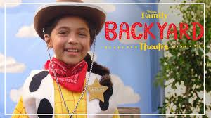 backyard theatre woody costume diy disney family youtube