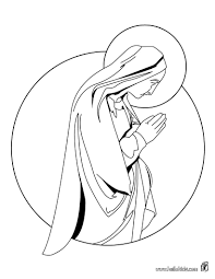 virgin mary coloring pages hellokids com