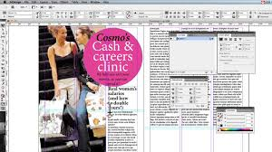 in design creating a page spread in indesign