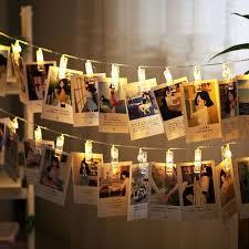 led lights for dorm 10 leds hanging string lights with photo display clips for bedroom