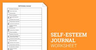 self esteem journal worksheet therapist aid