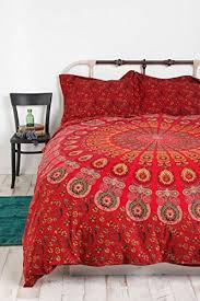 Indian Duvet Covers Uk Red Mandala Duvet Cover Throw Cotton Indian Bedding Quilt Cover